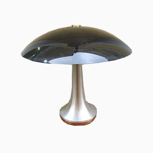 Black Aluminum Table Lamp from Stilux Milano, 1960s