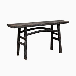Antique Chinese Elm Plank Top Console Table