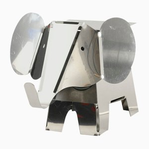 Postmodern Heavy Metal Chrome Elephant Floor Lamp, 1980s
