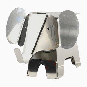 Postmodern Heavy Metal Chrome Elephant Floor Lamp, 1980s