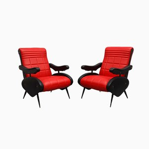 Adjustable Armchairs Attributed to Marco Zanuso, Italy, 1950s, Set of 2