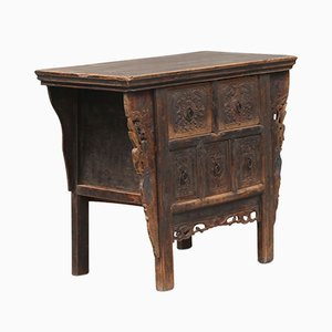 Antique Chinese Carved Elm Chest