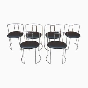 Italian Chairs, 1970s, Set of 6