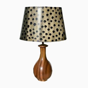 Organic Formed Brown Table Lamp by Gunnar Nylund for Rörstrand, 1950s