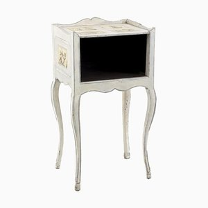 18th Century Louis XV Nightstand in White Lacquered Wood