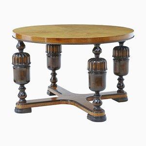 Art Deco Birch and Elm Coffee Table