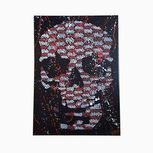 Small Skull Blaze Ten by Roulland T, 2016
