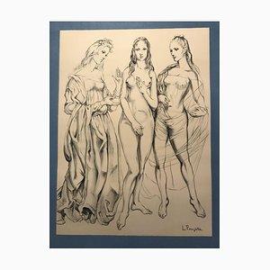 The 3 Graces by Foujita, 1960
