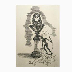 Caprice de l'écrivain Engraving by Salvador Dali, 1970s
