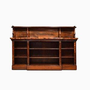 Antique Regency Rosewood Open Bookcase
