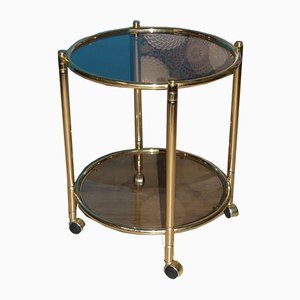 Vintage Brass and Glass Trolley, 1970s