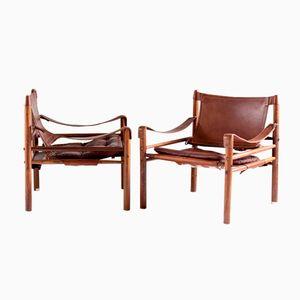 Sirocco Safari Lehnstühle von Arne Norell für Norell Möbler AB, 2er Set