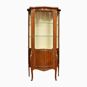 19th Century French Walnut and Kingwood Display Cabinet