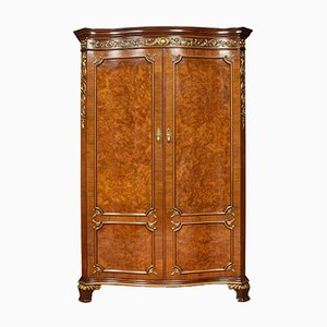 Antique Walnut Serpentine Fronted Wardrobe