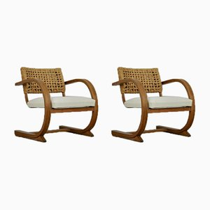Vintage Lounge Chairs by Adrien Audoux & Frida Minet, Set of 2