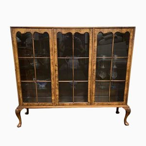Walnut Cabinet with 3 Doors, 1920s