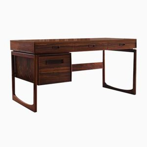 Mid-Century Norwegian Rosewood Desk by Maurice Villency for Ganddal Møbelfabrikk, 1970s