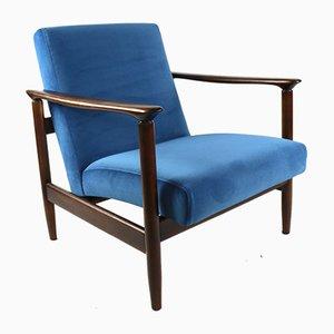 Blue Marine Armchair by Edmund Homa, 1970s
