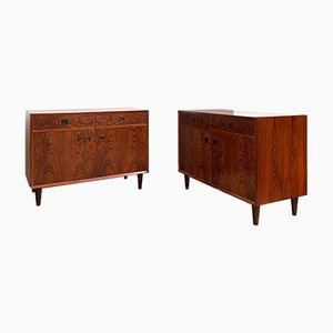 Mid-Century Scandinavian Rosewood Buffets, Set of 2