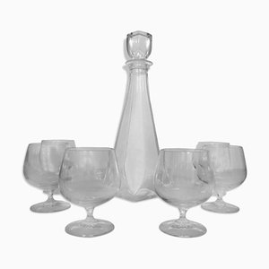 Crystal Brandy Service Set from Cristal D'arques, 1950s, Set of 7