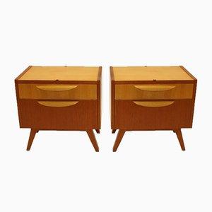 Vintage Cabinets or Bedside Tables, 1950s, Set of 2