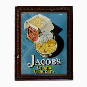 Jacobs Cream Cracker Advertising Sign, 1940s