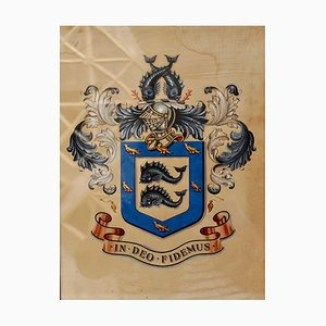 Edwardian Brighton Sussex Coat of Arms, 1900s