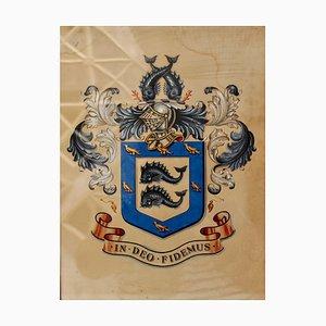 Edwardian Brighton Sussex Wappen, 1900er