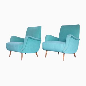 Mid-Century Model 801 Lounge Chairs by Carlo de Carli for Cassina, Set of 2