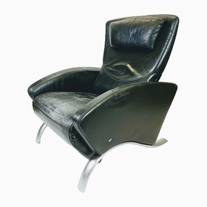 Leather Lounge Chair by Rolf Benz, 1980s
