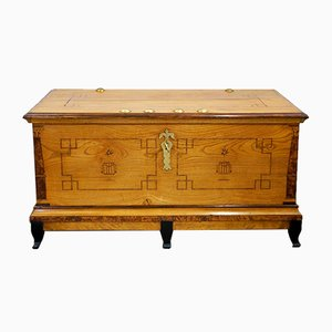 Antique Biedermeier Dowry or Wedding Chest, 1830s