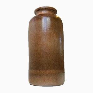 Danish Haresfur Stoneware Vase from Kis Lunn, 1970s