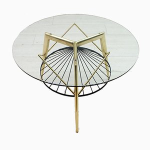 Mid-Century Round Coffee Table by Gio Ponti for Singer & Sons, 1950s