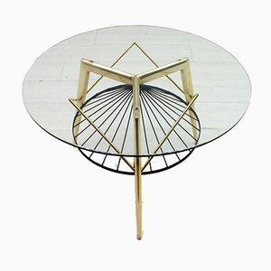 Tavolino da caffè rotondo Mid-Century di Gio Ponti per Singer & Sons, anni '50