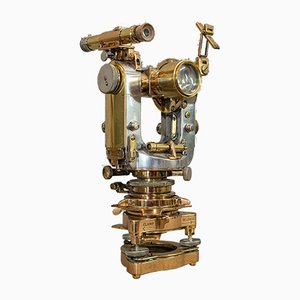 Vintage English Theodolite Scientific Instrument from Cooke, Troughton & Simms, 1950s