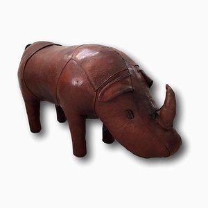 Leather Rhinoceros Shaped Ottoman by Dimitri Omersa for Omersa United Kingdom, 1960s