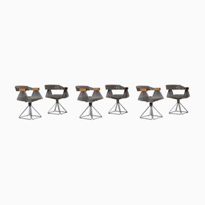 Chrome Delta Chairs by Rudi Verelst for Novalux, 1971, Set of 6