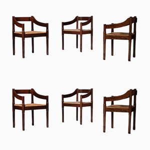 Carimate Dining Chairs by Vico Magistretti for Cassina, 1960s, Set of 6