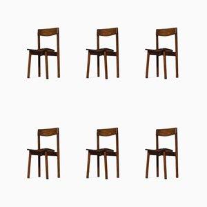 Französische Esszimmerstühle von Pierre Gautier Delaye, 1960er, 6er Set