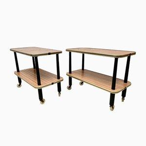 Vintage Side Tables on Castor Wheels from Newiste, Set of 2
