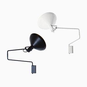 Wandlampen in Schwarz & Weiß von JJM Hoogervorst für Anvia, 1970er, 2er Set