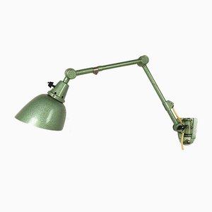 Grüne Deutsche Vintage Wandlampe von Curt Fischer für Midgard / Industriewerke Auma, 1930er
