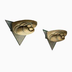 Postmodern Gargouille Sconces, Set of 2