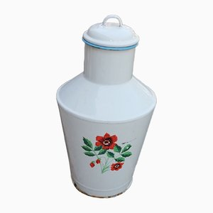 Vintage Enamel Water Can, 1950s