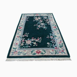 Hand-Knotted Wool Oriental China Carpet, 1950s