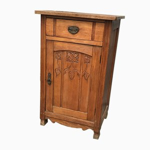 Antique Rustic Pinewood Nightstand