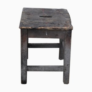 Rustic Workshop Stool, 1940s