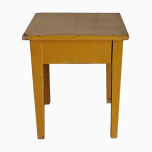 Ocher Painted Stool, 1940s