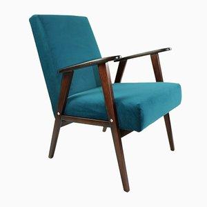 Vintage Green Velvet Armchair, 1970s