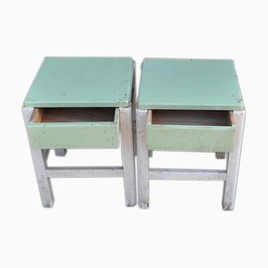 Antique Painted Stools, 1940s, Set of 2